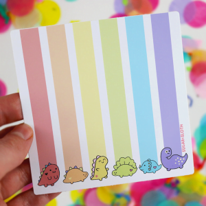 rainbow pride dinosaur sticker