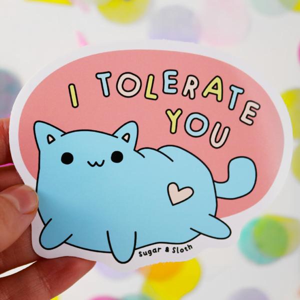 funny valentines vinyl sticker