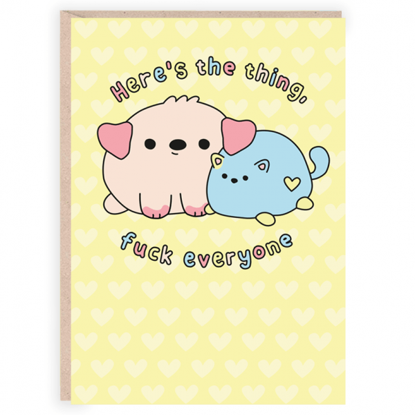 Here's the thing funny valentines day card