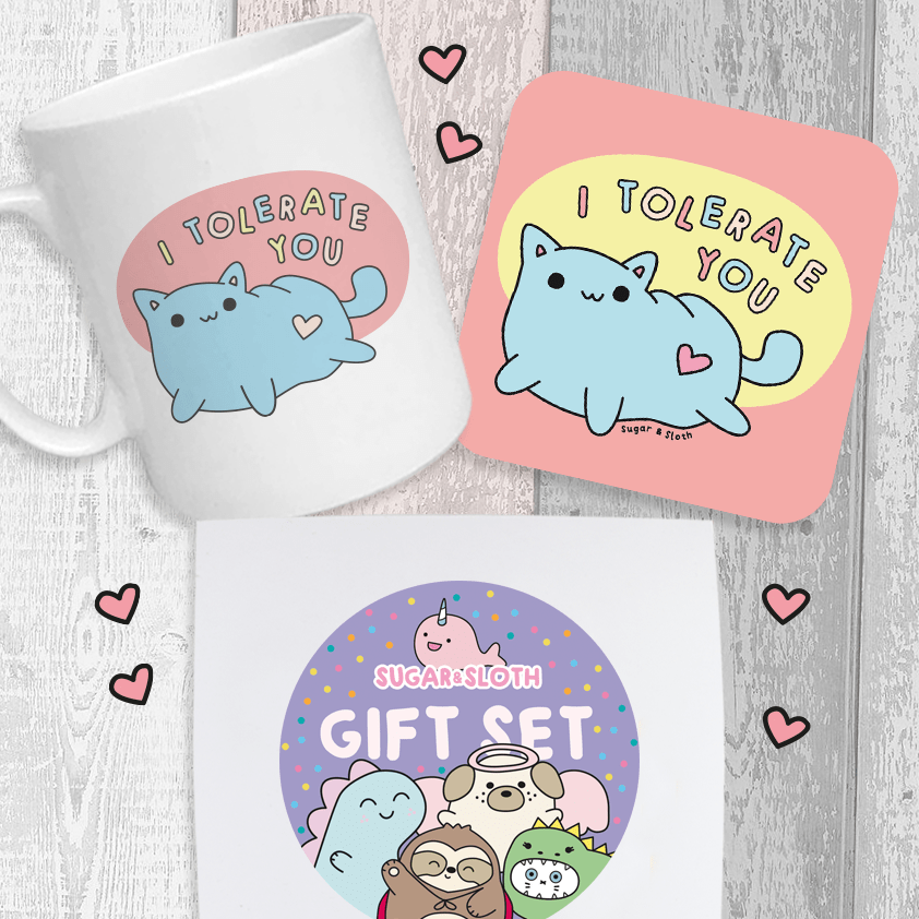 I Tolerate you funny valentines gift set