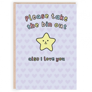 Please take the bin out funny card
