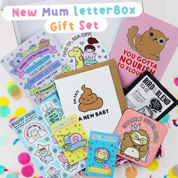 New Mum letter box gift set