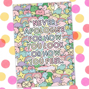 never apologise notebook