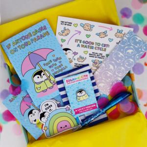 Tiny Party Club stationery subscription box