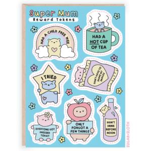 super mum reward tokens card
