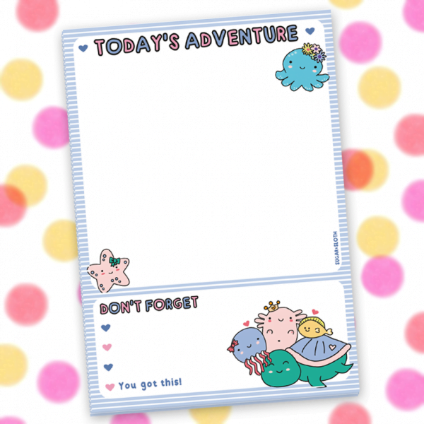 todays adventure notepad