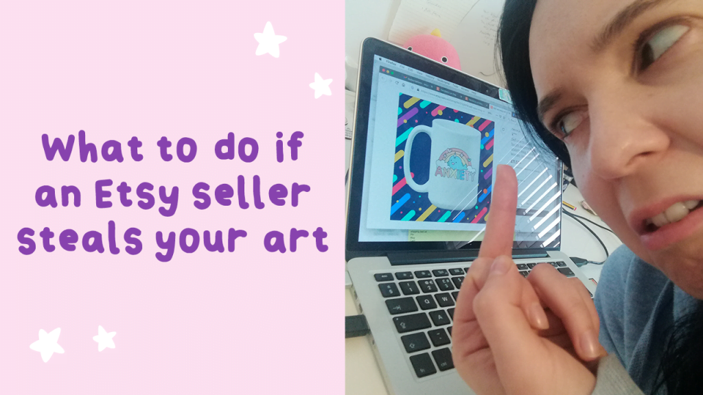 what to do if an etsy seller steals your art