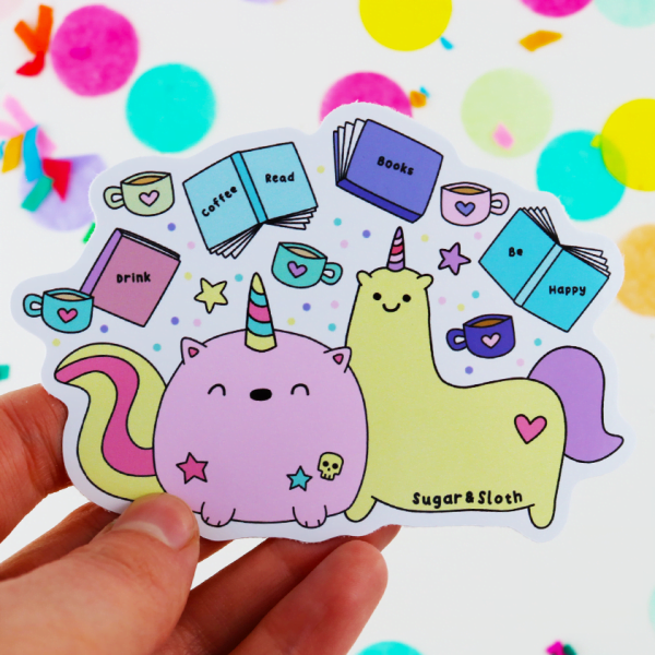 unicorn book club sticker