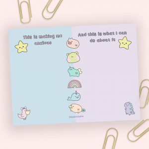 Anxiety sticky notes