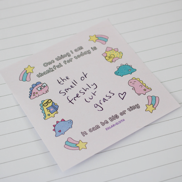 thankful sticky notes