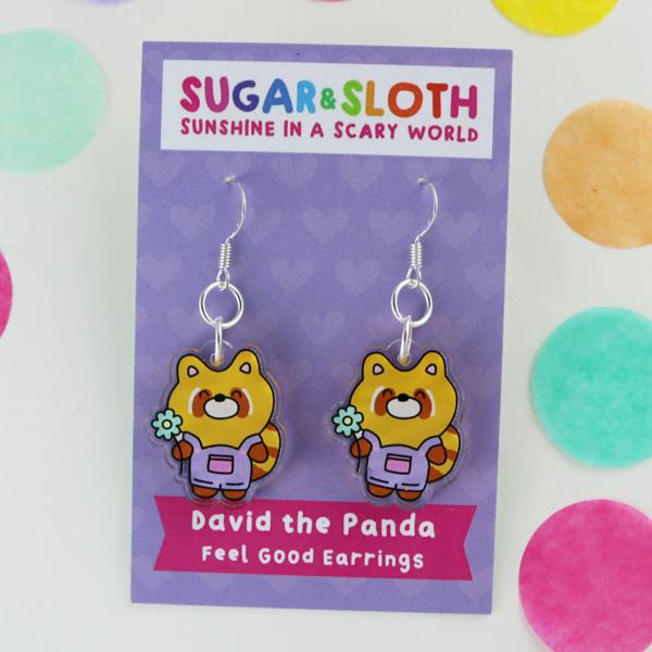david the panda earrings