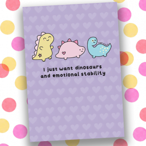 I just want dinos a5 notebook
