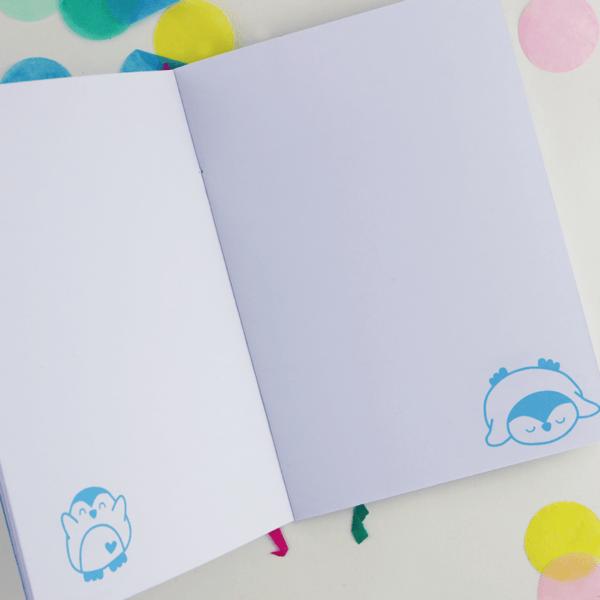inside penguin a6 notebook