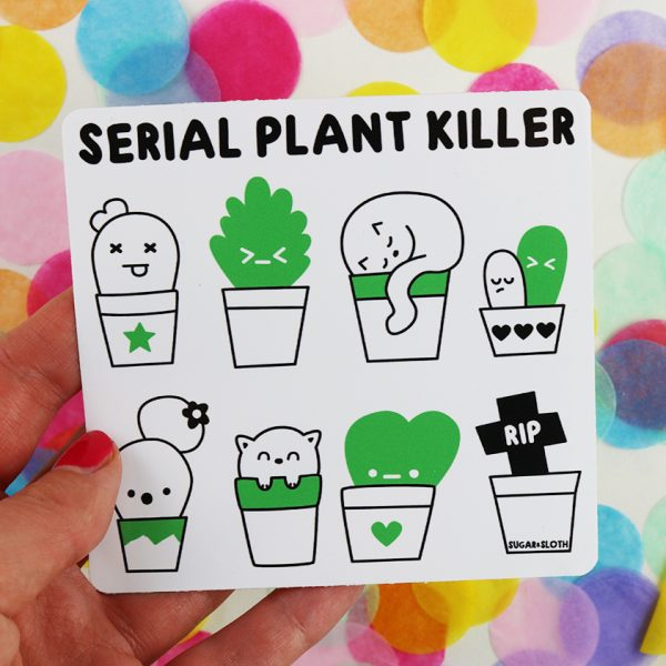 Serial Plant Killer square sticker