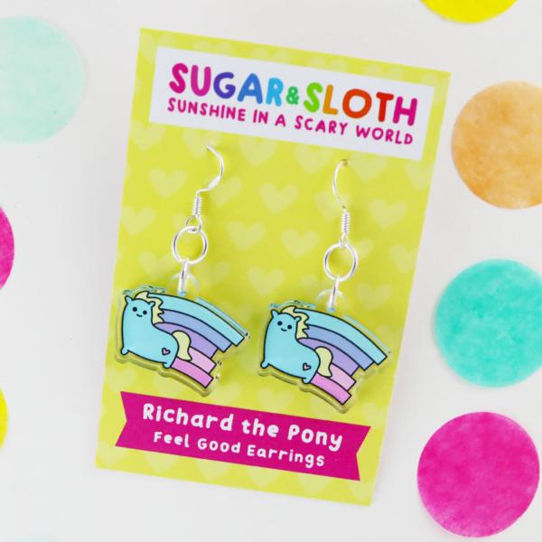 richard the pony earrings