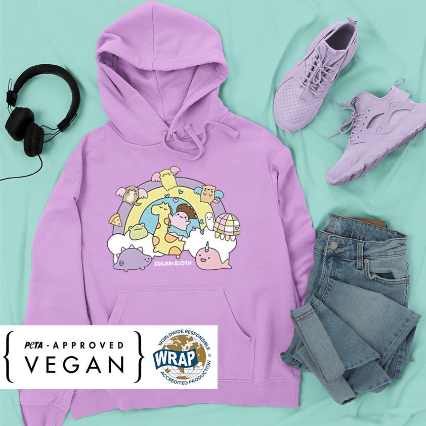 LILAC rainbow cute hoodie