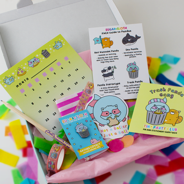 Trash Panda box contents