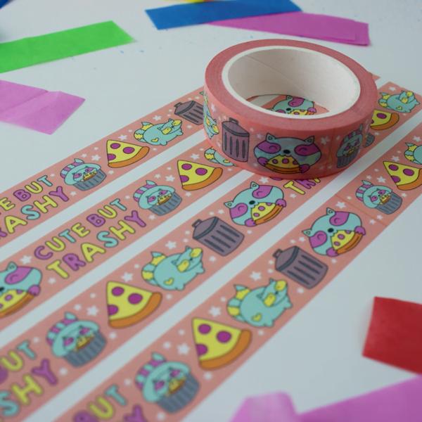 Cute but trashy washi tape