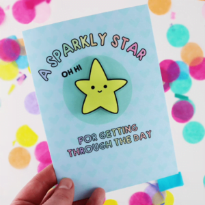 Sparkly Star Magnet Card