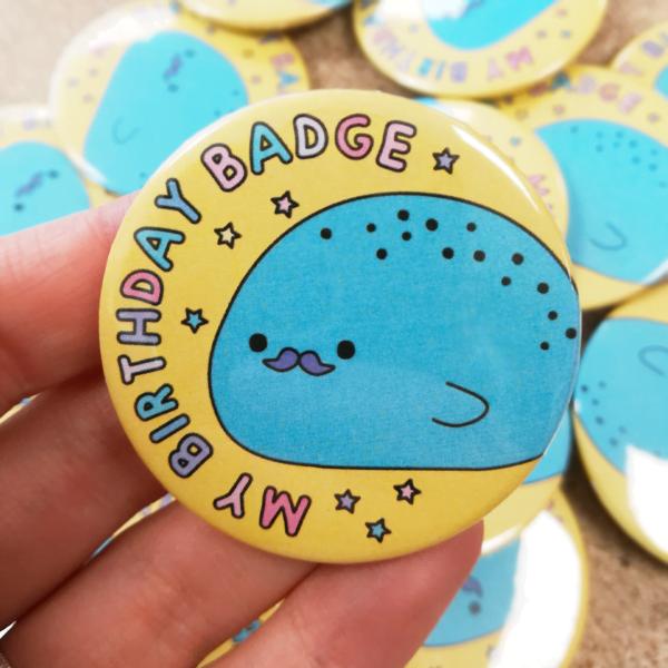 Birthday button badge