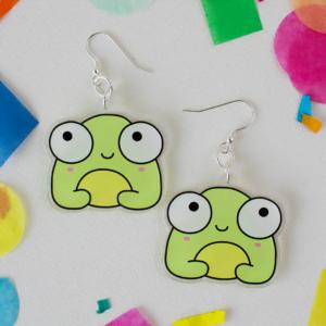 kawaii cute frog earrings