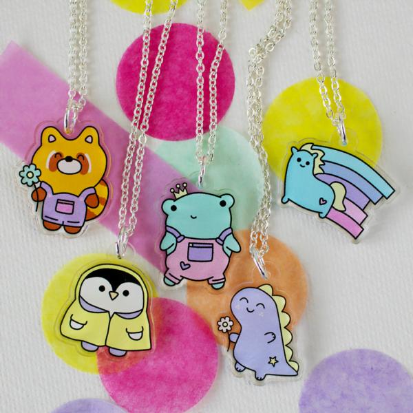 chonky cheerleader cute animal necklaces