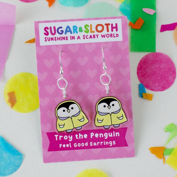 Troy the Penguin earrings