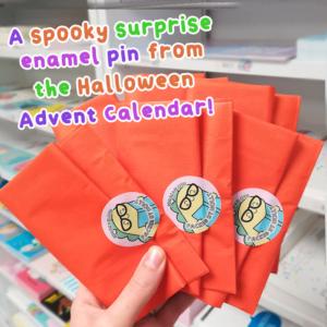 Halloween mystery pin