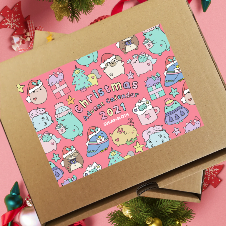 Pin and stationery advent calendar
