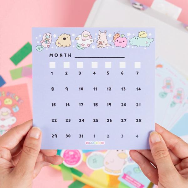 Platypus calendar page