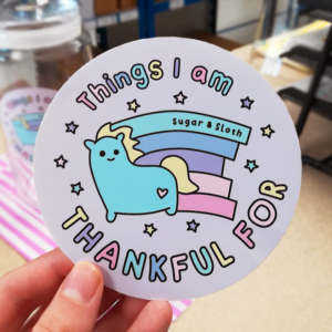 Things I Am Thankful For Sticker